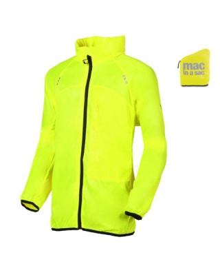 Geaca de ploaie MAC IN A SAC Running Fluoro yellow