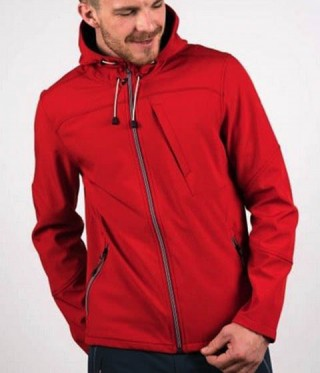 Geaca SoftShell Active Shell Cassian Race red